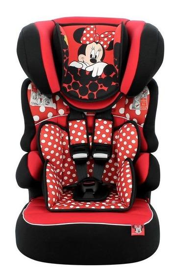 Cadeira De Auto Disney Beline Minnie Mouse Red Cadeirinha