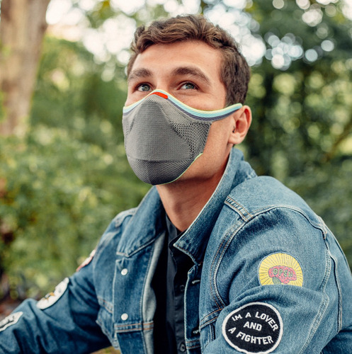 Máscara Fiber Knit Pride Cinza