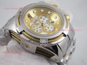 Relógio Bolt Zeus 0822 Prata Misto B Ouro 18k - Invicta