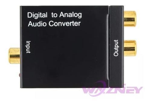 Imagen 1 de 1 de Convertidor Audio Digital Optico A Rca Analogico