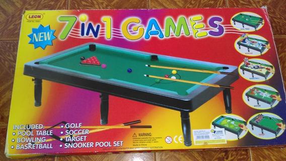 Tabla De Pool - Multi-juego 7 En 1