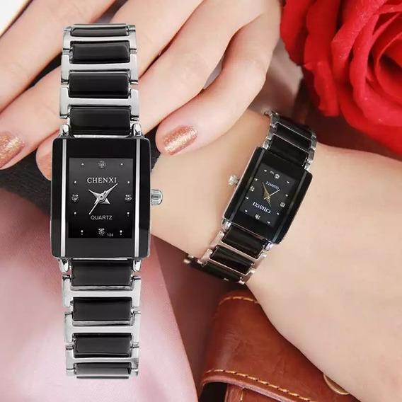 Relógio Feminino Estiloso Em Cerâmica