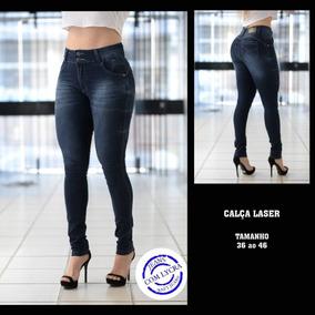 Calça Jeans Feminina Cintura Alta Com Lycramoda 2019 Promoçã