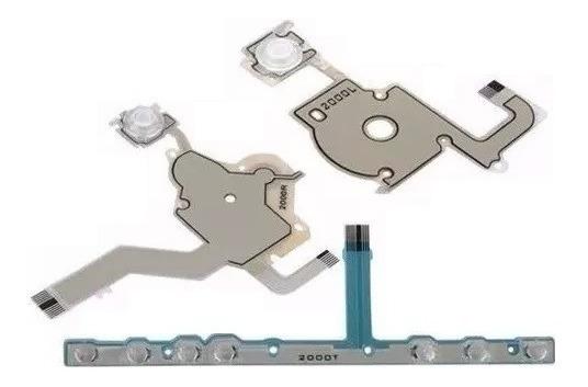 Kit Flat P/ Botão Psp Sony 2000 A 2010 Direcional Analógico