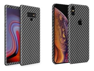 Skin Fibra Carbono Negro - Apple Samsung Huawei Sony Xiaomi