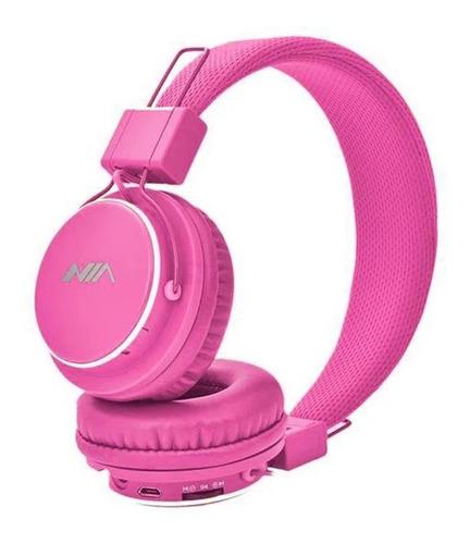 Imagen 1 de 3 de Audífono Bluetooth Nia (fm, Micrófono, Micro Sd, Auxiliar)