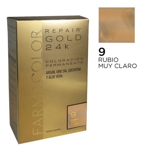 Farmacolor R Gold Rub. Muy Cla N° 9 X 1 Estuche. De Fábrica.