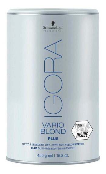 Schwarzkopf Igora Vario Blond Plus Azul Pó Descolorante 450g