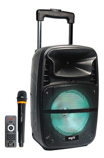 Parlante Portatil Tipo Carrito Con Bt, Fm Y Mp3 Con Luces