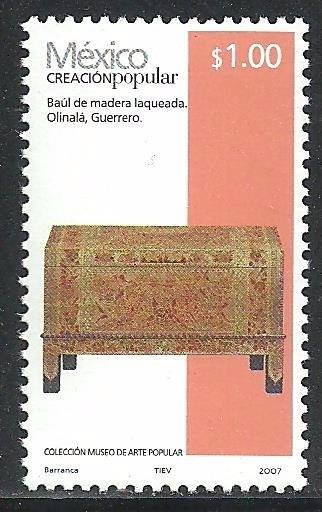 2007 Creación Popular Baúl De Madera 1p Sc. 2489 Mnh