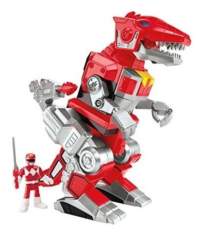 Power Rangers Ranger Rojo Y T-rex Zord De Fisher-price Imagi