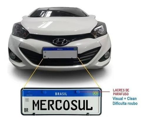 Placa Mercosul Cadastrada No Detran + Moldura + Lacre