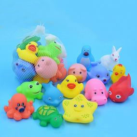 2 Kits Brinquedo Banho Para Bebê 26 Peças Bichinhos Mordedor