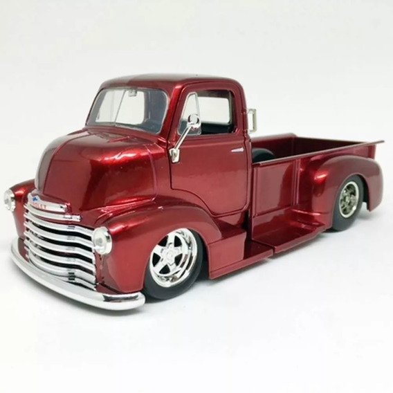 Miniatura Chevy Coe 1952 Pick-up Jada Toys 1:24 Roxo Metalic