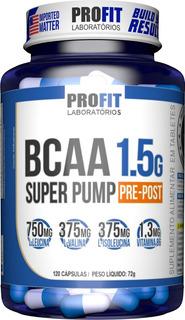 Bcaa 1.5g Super Pump 120 Caps - Aminoácido - Profit
