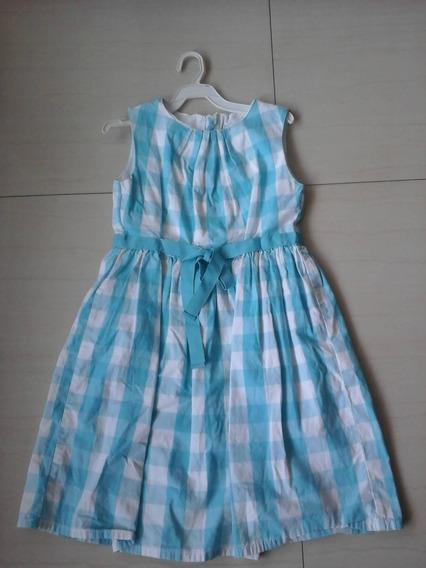 Vestido Epk Talla 6 De Niña Color Azul Y Blanco Usado