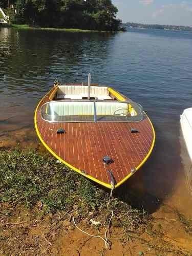 Ski Boat Vintage Cedro Todo Barco