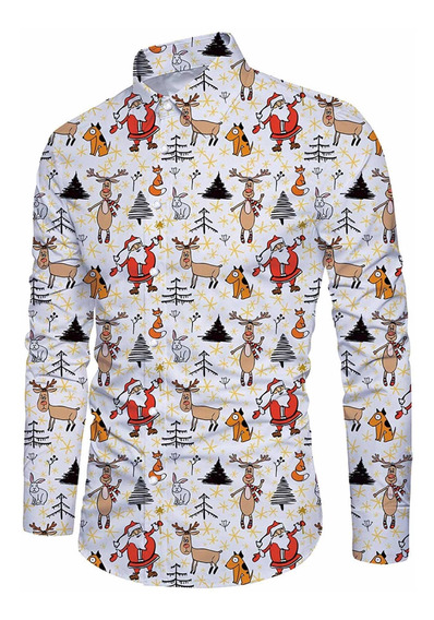 Camisa Caballero Figuras Navidad