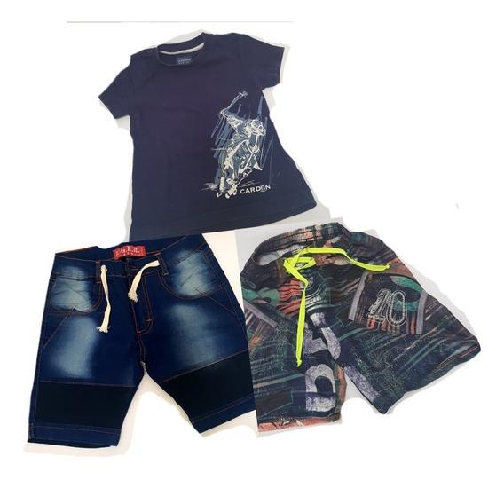 3×1 Pantalon Bermuda Jeans+malla Bermuda+regalo Remera T:5/6