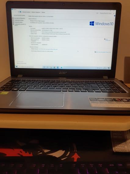(gamer) Notebook Acer Aspire F 15 - I7, Placa De Video Dedic
