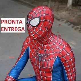 Cosplay Homem Aranha Clássico 3d Completo Fantasia Adulto