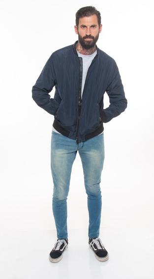 Campera Rompeviento Importada Impermeable Liso Azul #50016