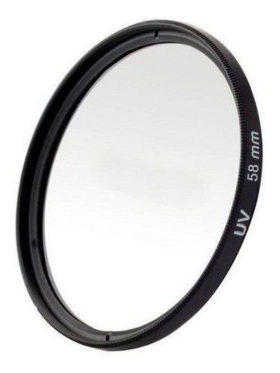 Filtro Uv Ultravioleta Protetor Para Lentes Câmeras Fotográficas 58mm Canon, Nikon, Sony, Fuji, Etc. Universal