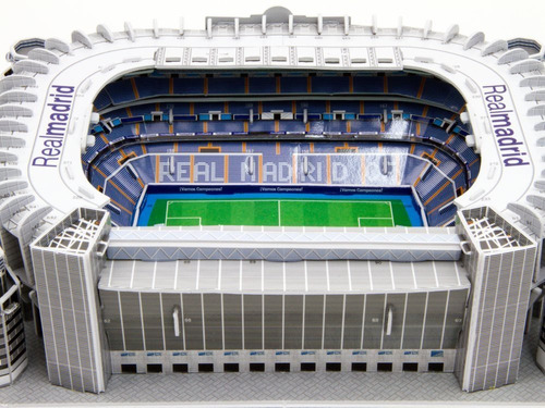 Maqueta Estadio 3d Para Armar!!! Cancha Del Real Madrid!!