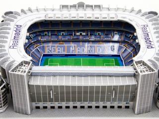 Maqueta Estadio 3d Para Armar!!! Cancha Del Real Madrid!!