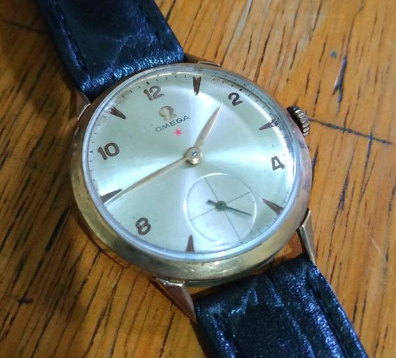 Relógio Omega Estrela Vermelha Em Ouro 18k - Anos 50