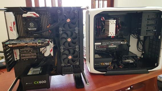 Computador I7 6800k, Mb X99, Water Cooler 360 Core P3 Cx600w