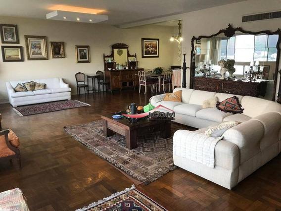 Apartamento Com 4 Dormitórios Para Alugar, 280 M² Por R$ 7.500,00/mês - Flamengo - Rio De Janeiro/rj - Ap3492