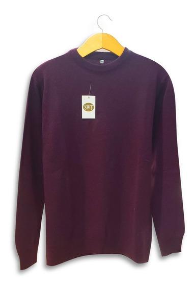 Sweater Pullover 100% Lambswool Dama Clásico Pura Lana