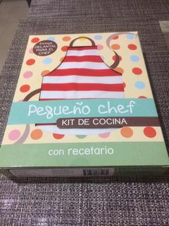 Kit Mini Chef (libro De Recetas Y Delantal)