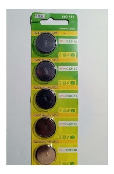 Paquete De 5 P Pila Bateria Boton 3v Cr2430 - T2007