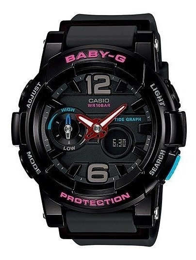 Relógio Baby-g Bga-180-1bdr (preto)