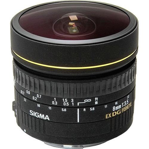 Lente Objetiva Nikon Sigma 8mm F/3.5 Ex Dg Af Fisheye