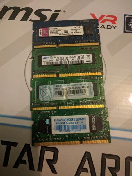 Memoria Ram Ddr3 Netbook Notebook Modulos De 1gb Y 4gb