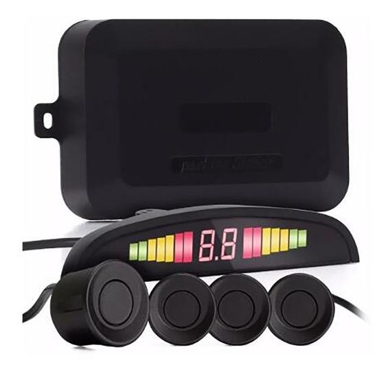 Sensor De Estacionamento Ré 4 Sensores Display Buzzer Preto