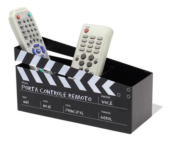 Porta Controle Remoto Claquete De Diretor Cinema Preto