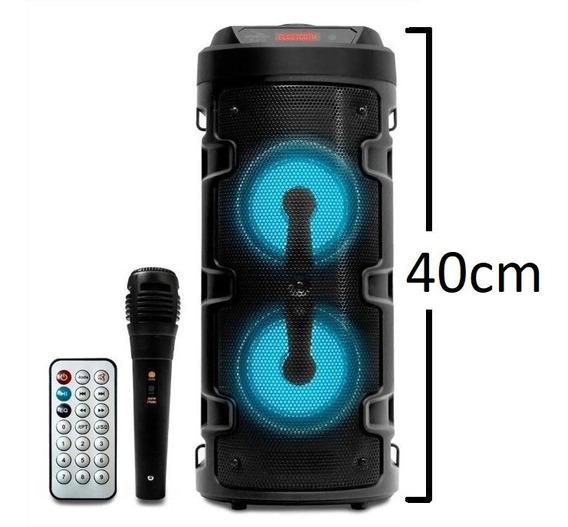 Caixa De Som Bluetooth Amplificada Potente Microfone Torre