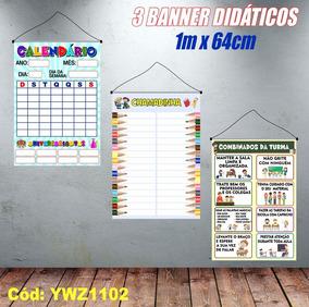 Kit Banners Calendário + Chamadinha E Combinados Ywz1102