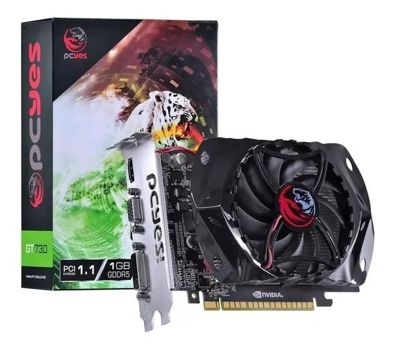 Placa De Vídeo Nvidia Pcyes Geforce Gt 730 1gb Ddr5 128 Bits