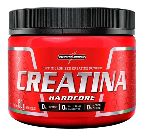 Creatina Hardcore Pure 150g Integralmédica - Original