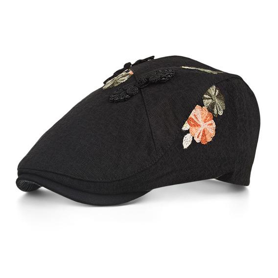 Y044 Bordado Plano Tapa Vendedor De Periódicos Sombrero Con