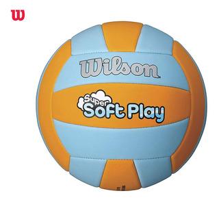 Balon Voleibol Wilson Super Softplay - Azul / Naranja