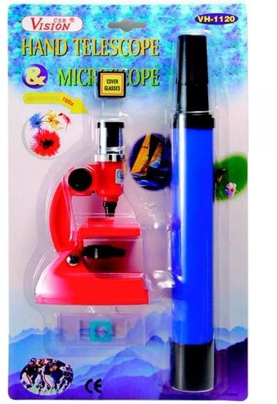 Microscópio Infantil Luneta Pesquisa Brinquedo Ensino