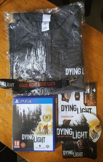 Dying Light Jogo Ps4 + Itens Collector Camiseta Adesivo Guia