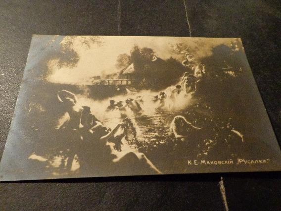 Rusia-1910-foto-cromo- Tornado De Mujeres Hacia El Cielo