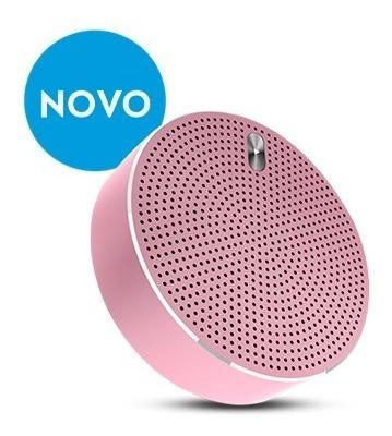 Caixa Som Bluetooth Estereo Metalico Rosa Elsys Eas055m-7